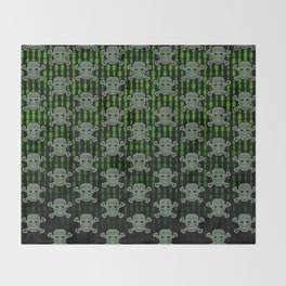 Hacker Skull Crossbones (pattern version) Throw Blanket