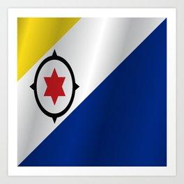 Flag of Bonaire Art Print
