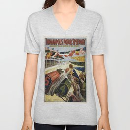 Vintage poster - Indianapolis Motor Speedway Unisex V-Neck