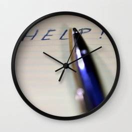 Pen Help Wall Clock