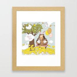 Cute Miss you card design. Framed Art Print