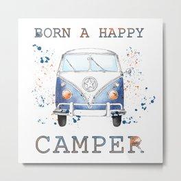 Born a Happy Camper Metal Print