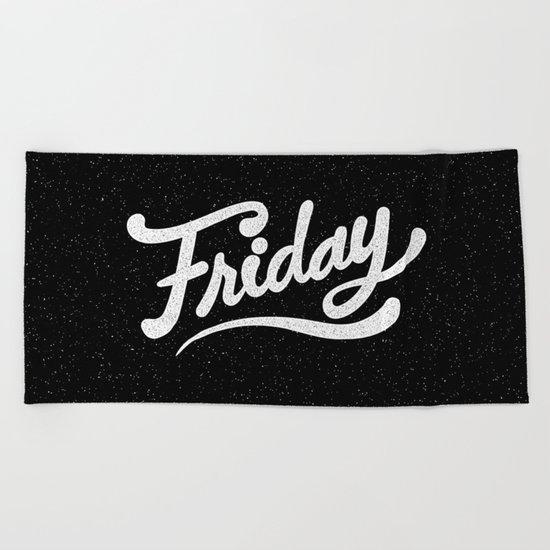 Friday Beach Towel
