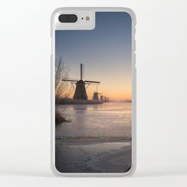 Windmills at Sunrise Clear iPhone Case