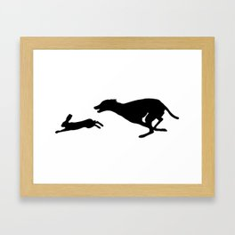 Death Inspires Me Like a Dog Inspires a Rabbit (Black on White) Framed Art Print