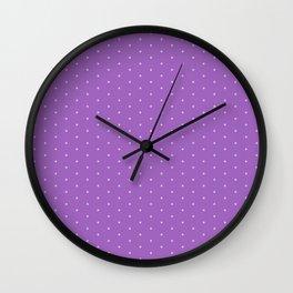 Lavender Dots Wall Clock