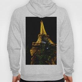 Eiffel Tower lit up at night, Paris Hoody