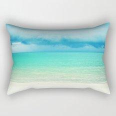 Blue Turquoise Tropical Sandy Beach Rectangular Pillow