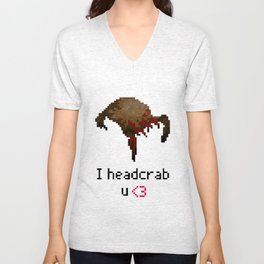 I headcrab u  Unisex V-Neck