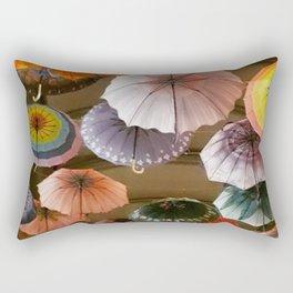 Umbrellas a Must for Your Wanderlust Rectangular Pillow