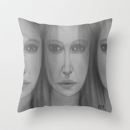Confusion by Saribelle Rodriguez Throw Pillow