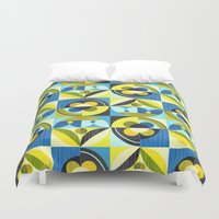 pacific rim Duvet Covers featuring pacific by ELLEN GIGGENBACH