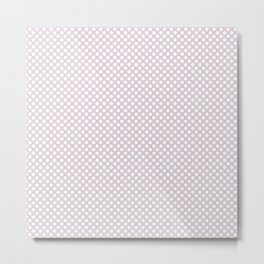 Orchid Ice and White Polka Dots Metal Print
