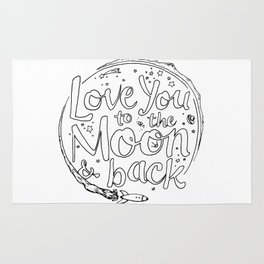 Love You to the Moon & Back...Coloring Page Rug