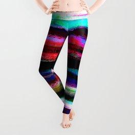 bohemian colorful pattern Leggings