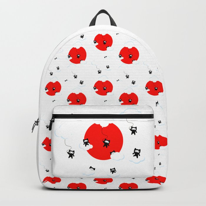 Ninja cats in the sky pattern (Japanese edition) Backpack