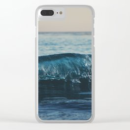 the wave ... Clear iPhone Case