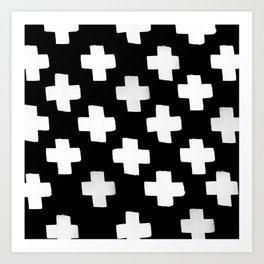 Criss Cross Pattern Art Print