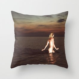 Naked Youth Throw Pillow