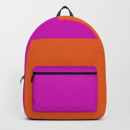Bright Orange & Fuchsia Pink Color Block Backpack