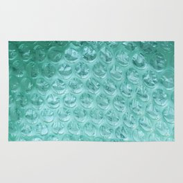 Aqua Bubble Wrap Rug