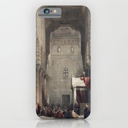 Interior of the mosque of the Metwalys (Metwalis) illustration by David Roberts copy 4 iPhone Case