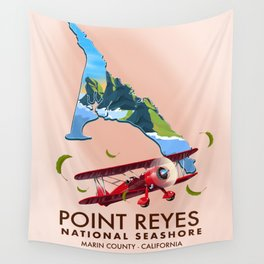 point reyes national seashore travel poster. Wall Tapestry