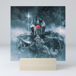 Audience With The Titan Mini Art Print