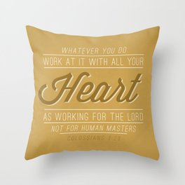 Colossians 3:23 Throw Pillow