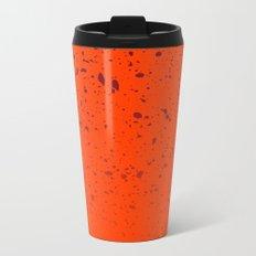 Trail Status / Orange Metal Travel Mug