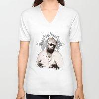 2pac V-neck T-shirts featuring Guru // GangStarr by Gold Blood