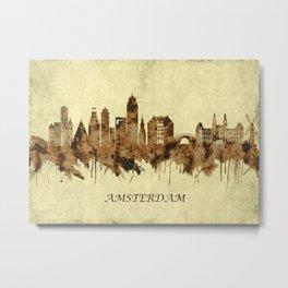 Amsterdam Netherlands Cityscape Metal Print