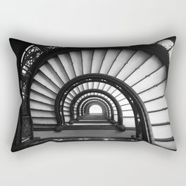 The Rookery Staircase Black and White Rectangular Pillow