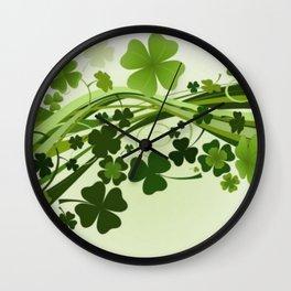 Tréboles de la suerte Wall Clock