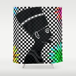 Queen Nefertiti Punk Rockstar Shower Curtain