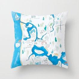 Saugatuck Area Throw Pillow