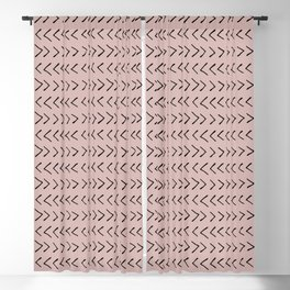 Arrows on Oyster Pink Blackout Curtain
