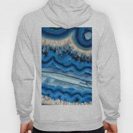 Blue agate slice wave Hoody