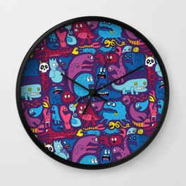 Mo' Monsters Mo' Problems Wall Clock