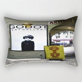 Prague Godot Rectangular Pillow