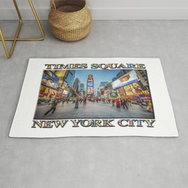 Times Square Sparkle (with typography) Rug