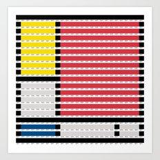 Mondrian pantone as pixel Art Print