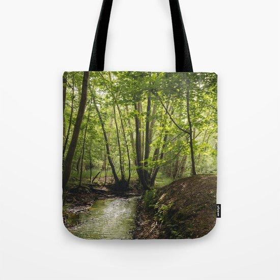 Small woodland stream. Tote Bag