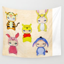 A Boy - Winnie and friends Wall Tapestry