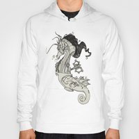 steam punk Hoodies featuring Steam Punk Horse  by FlyingFrogIllustration