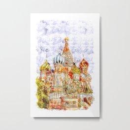 Moskow Metal Print