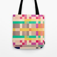 quilt Tote Bags featuring quilt by spinL