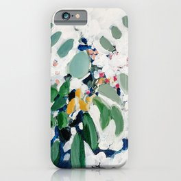 Eucalyptus Bouquet in Green and White iPhone Case