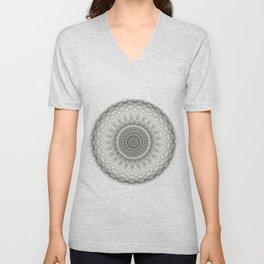 Grey Mandala Unisex V-Neck