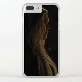 Clarke Griffin Clear iPhone Case